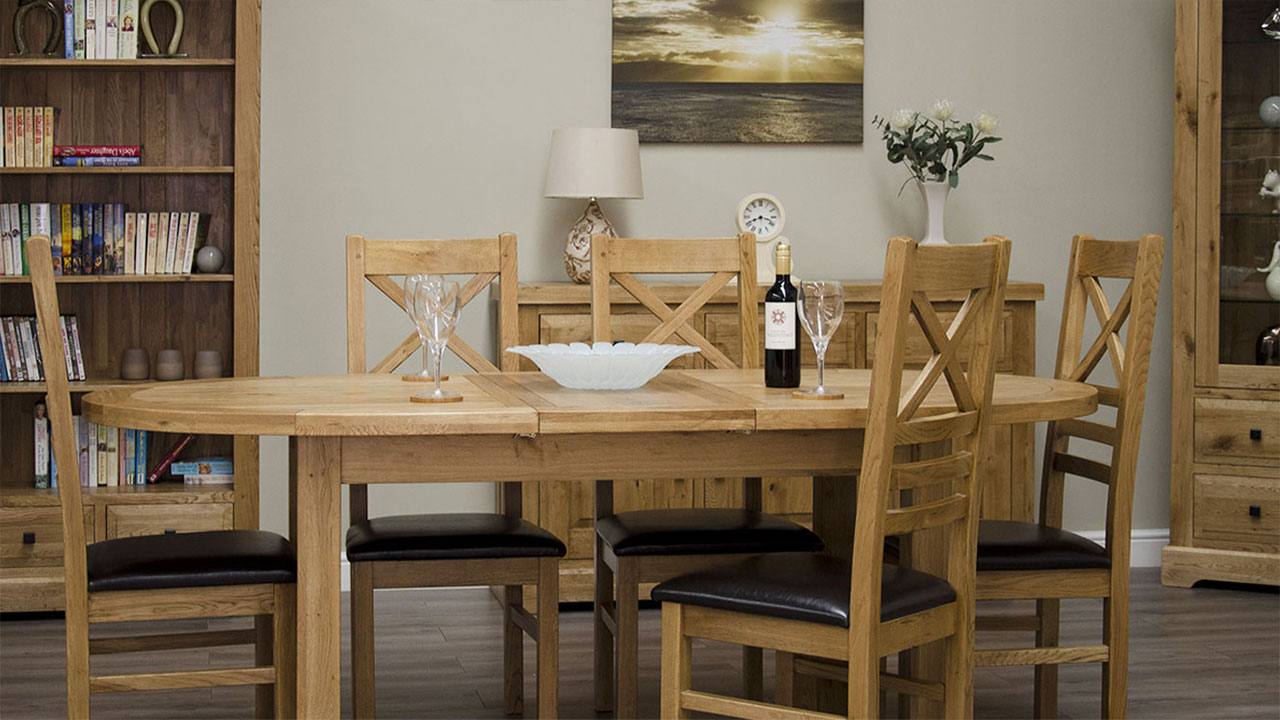 Oak Dining Chairs Room, Contemporary Oak Dining Room Sets