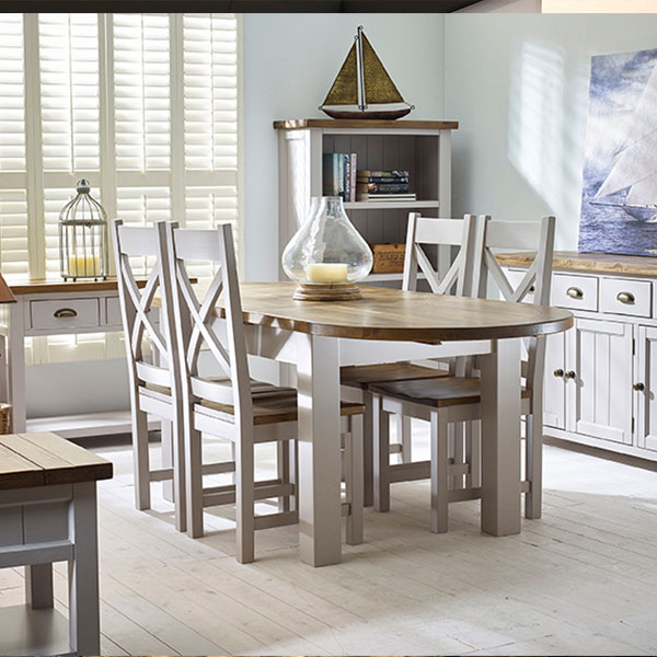 Cotswold Rustic Pine in Grey Dining Room