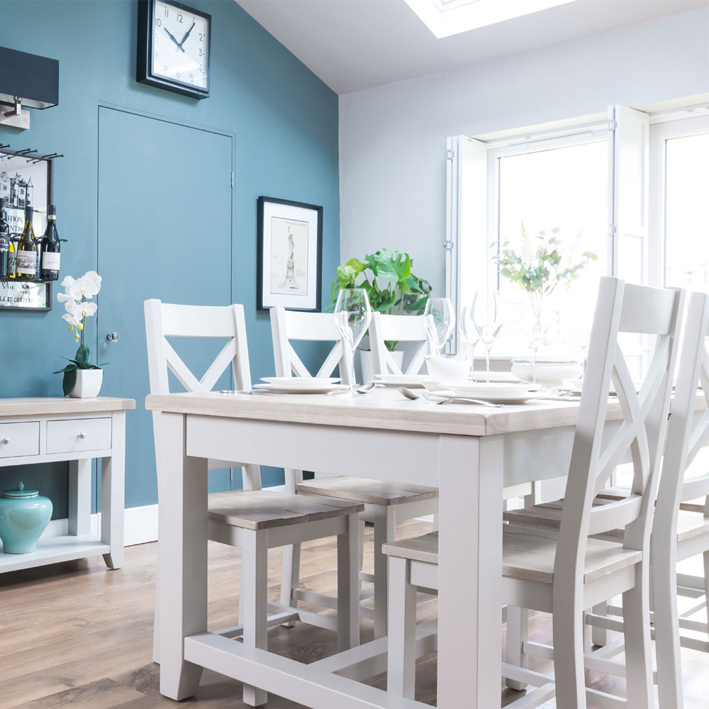 Ella Chalked Oak & Light Grey Dining Room Furniture