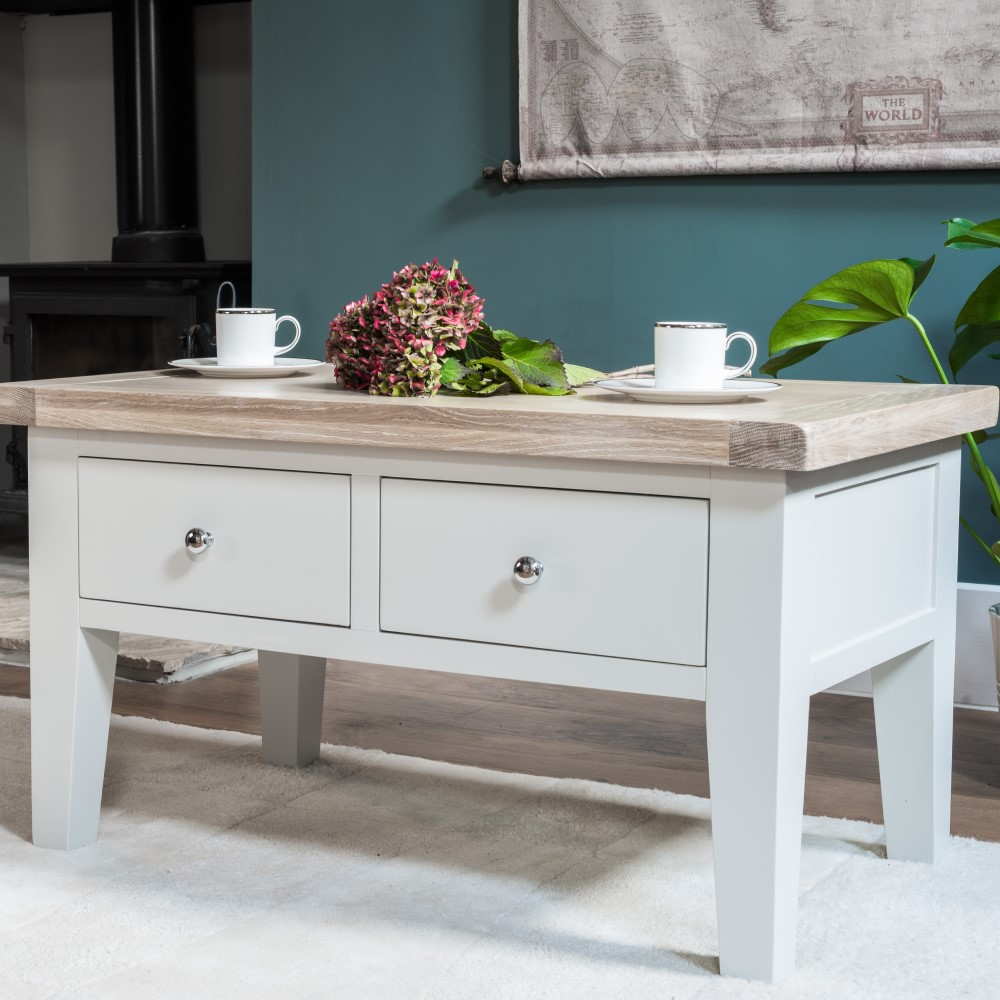 Ella Chalked Oak & Light Grey Living Room Furniture