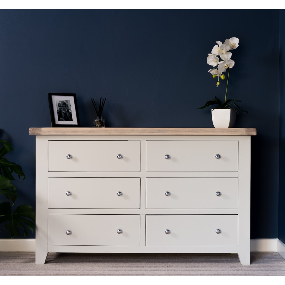 Ella in Chalked Oak & Light Grey Bedroom Furniture