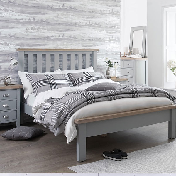 Florence Oak Grey Bedroom Furniture