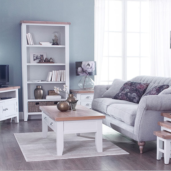 Florence Oak White Living Room Furniture