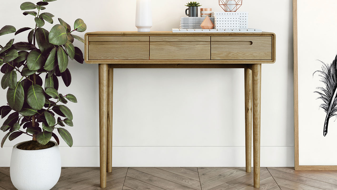 Picture of: Oak Hall Tables Hallway Console Tables House Of Oak