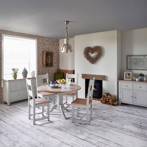 New Hampshire in Chalked Oak & Light Grey Dining Room Furniture