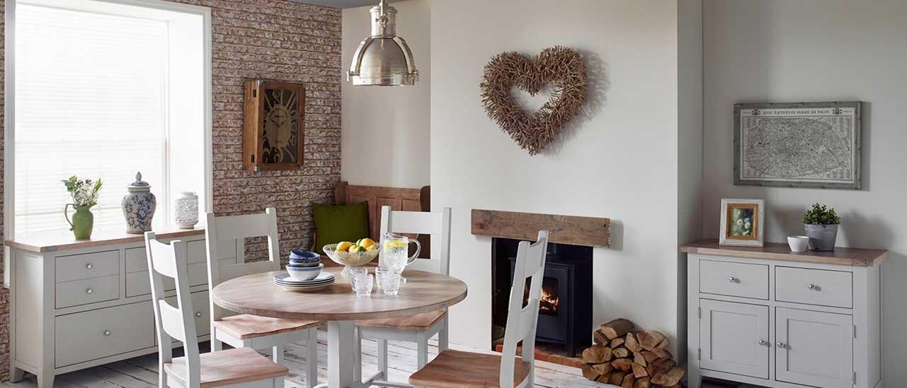 New Hampshire Chalked Oak Light Grey Living Room Furniture House Of Oak
