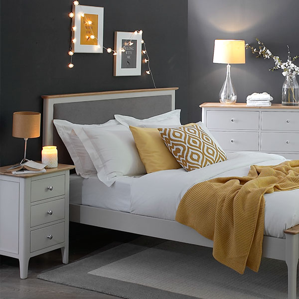 Oslo Oak in Dove Grey Bedroom Furniture