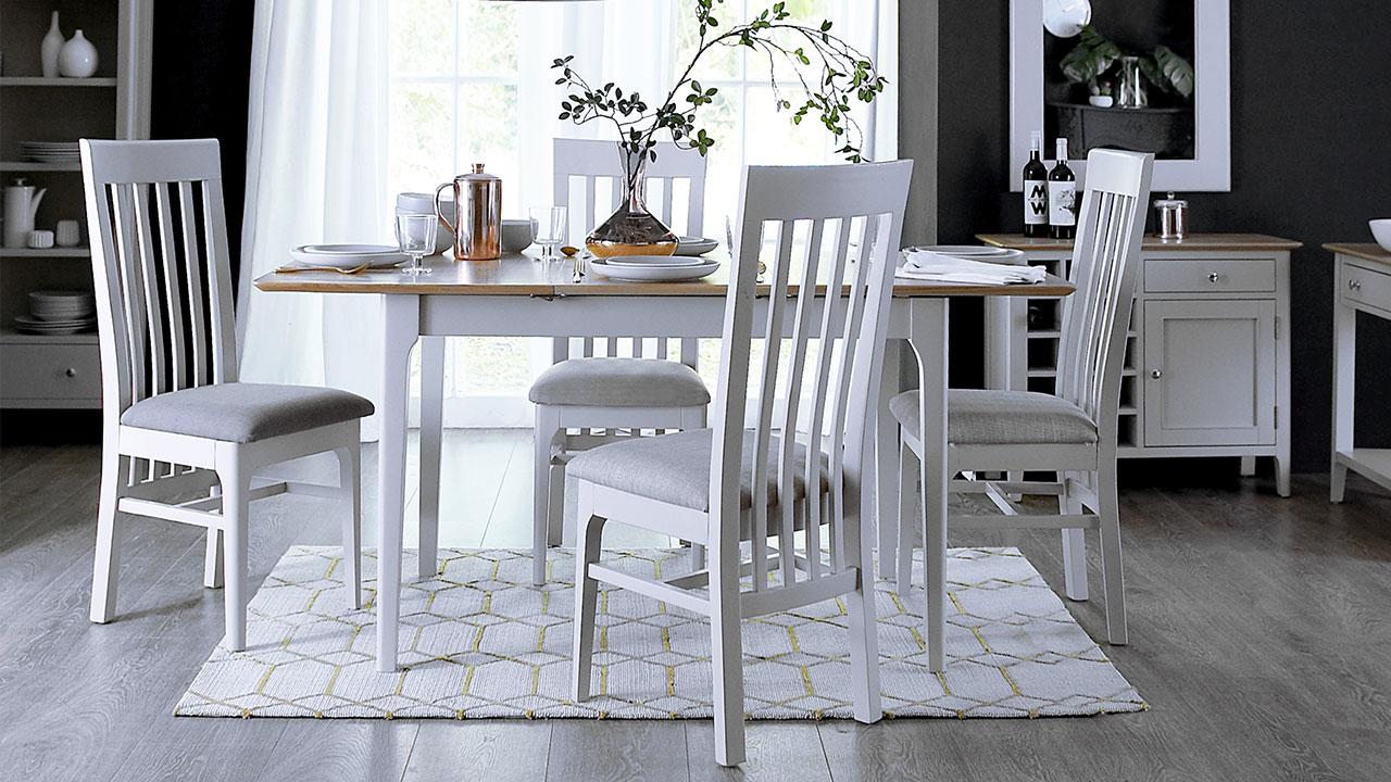 Oslo Oak in Dove Grey Dining Room Furniture