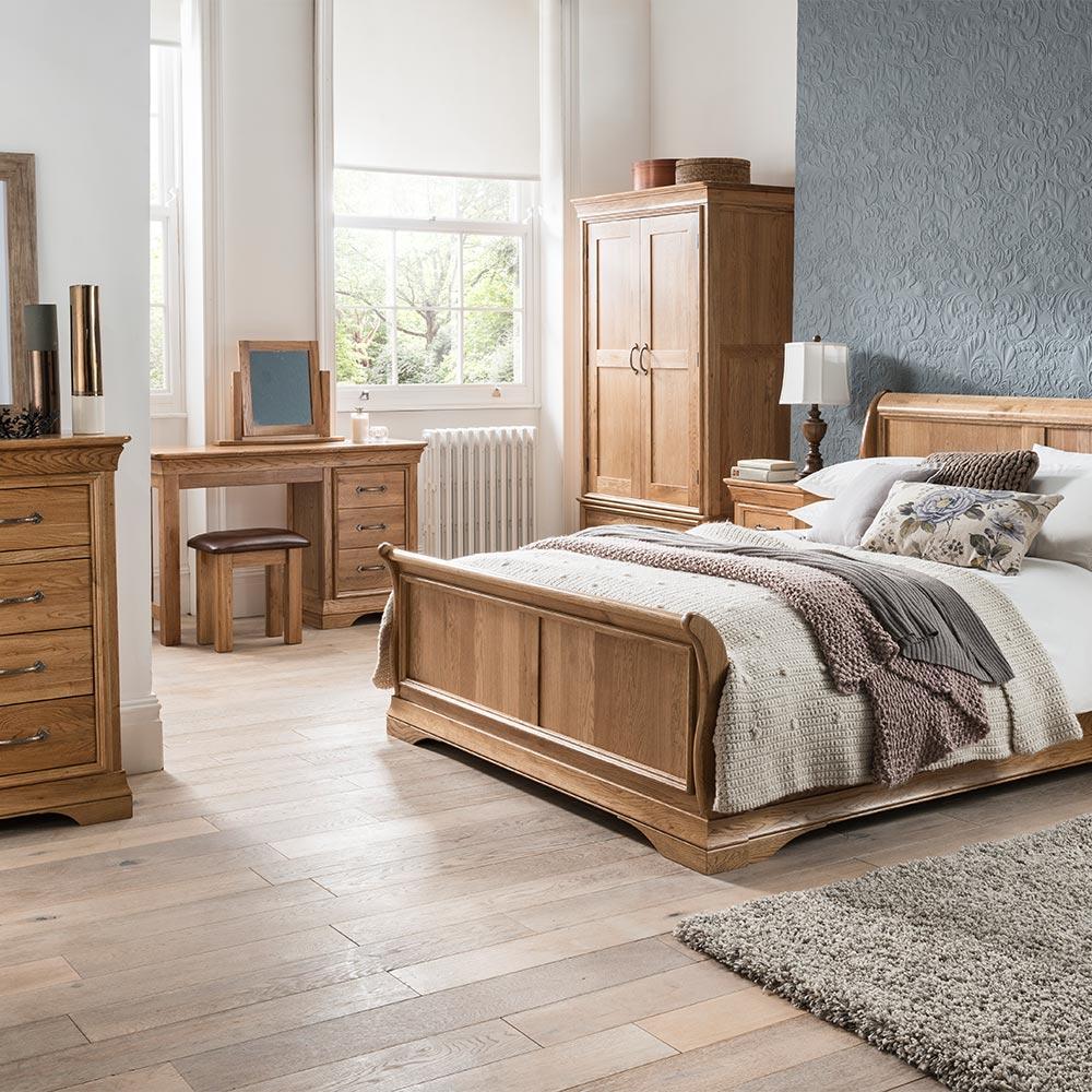 Paris Solid Oak Bedroom Furniture