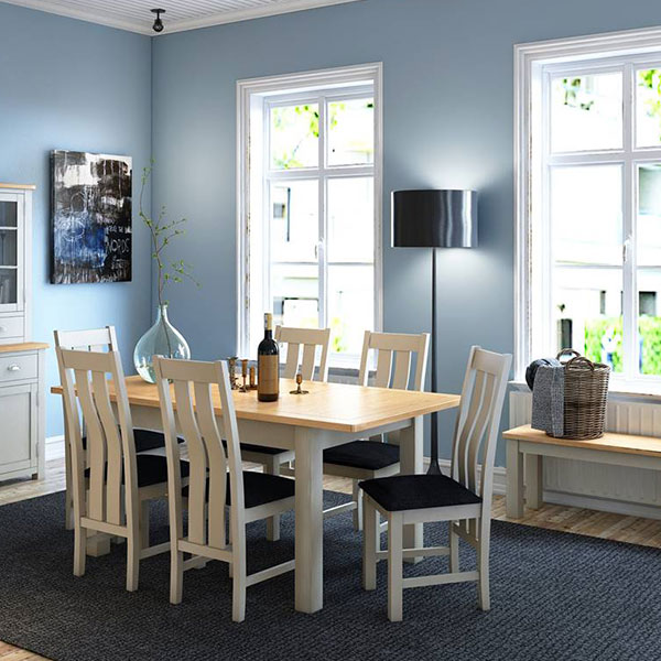 Portman Oak White Dining Room Furniture