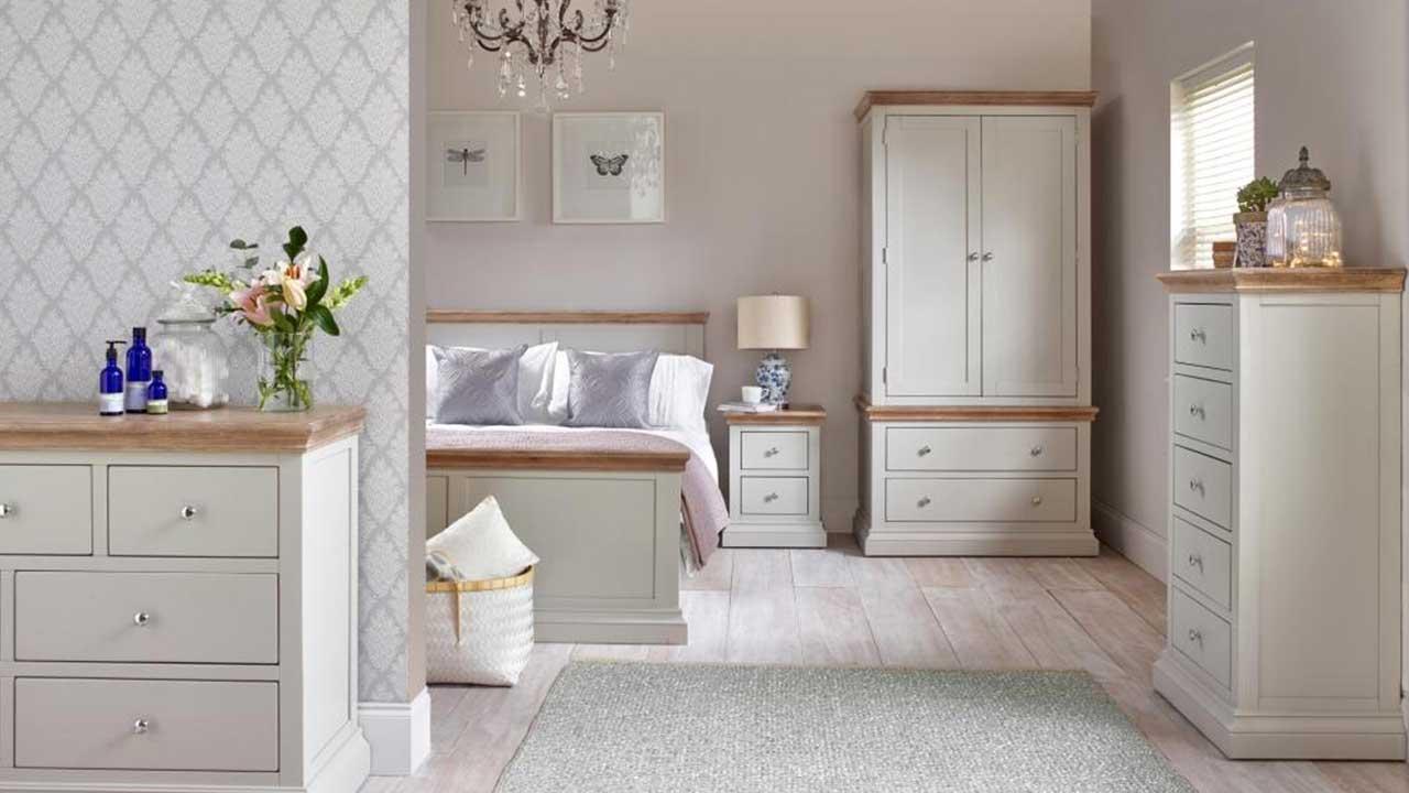 Porto Light Grey Bedroom Furniture House Of Oak
