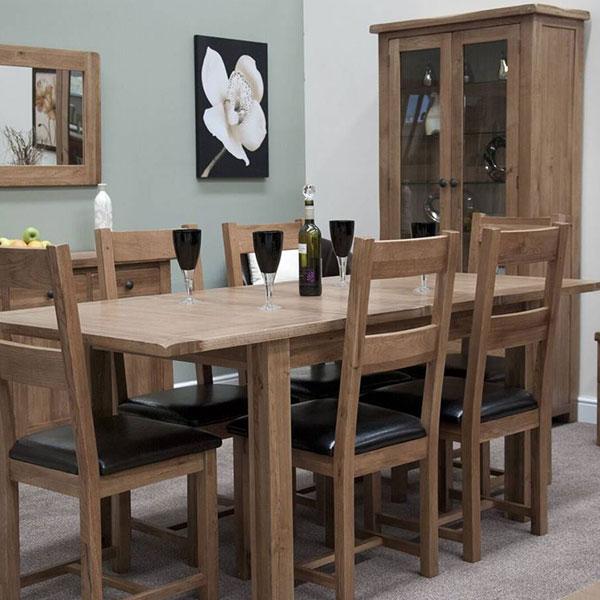 Rustic Solid Oak Dining Room Furniture