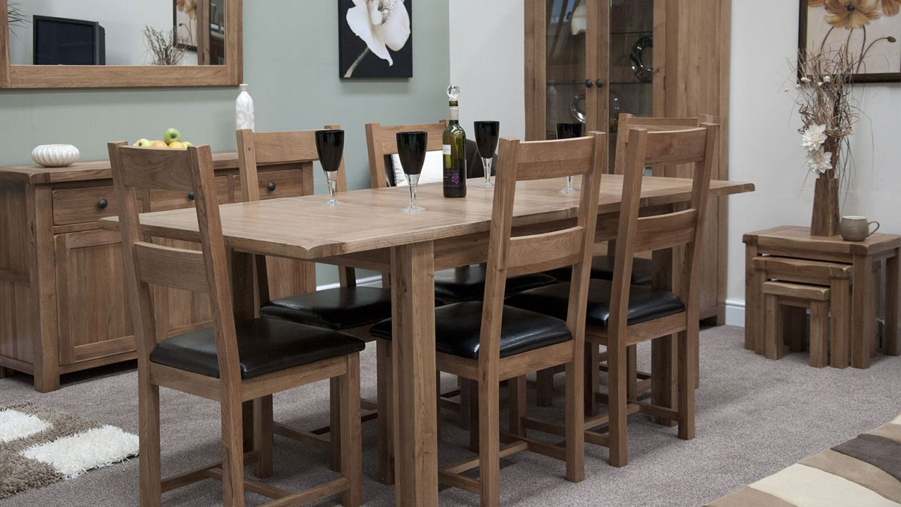 Rustic Solid Oak Dining Room Furniture