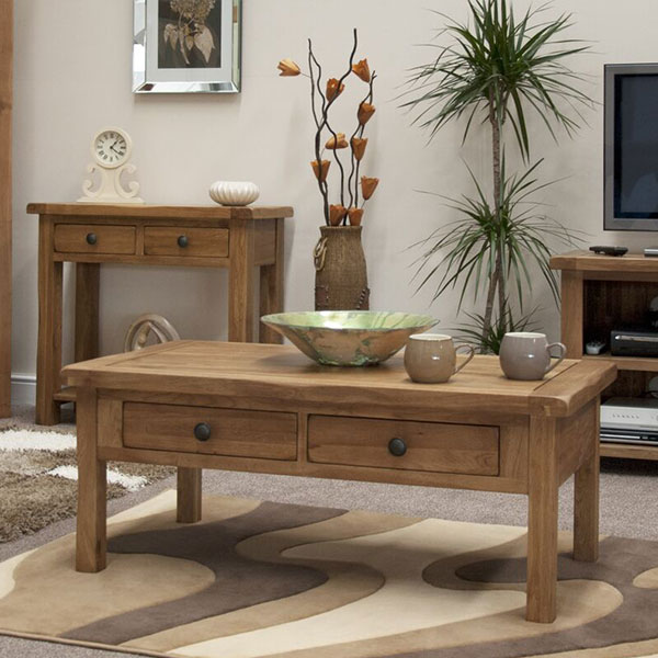 Rustic Oak Solid Oak Living Room Furniture