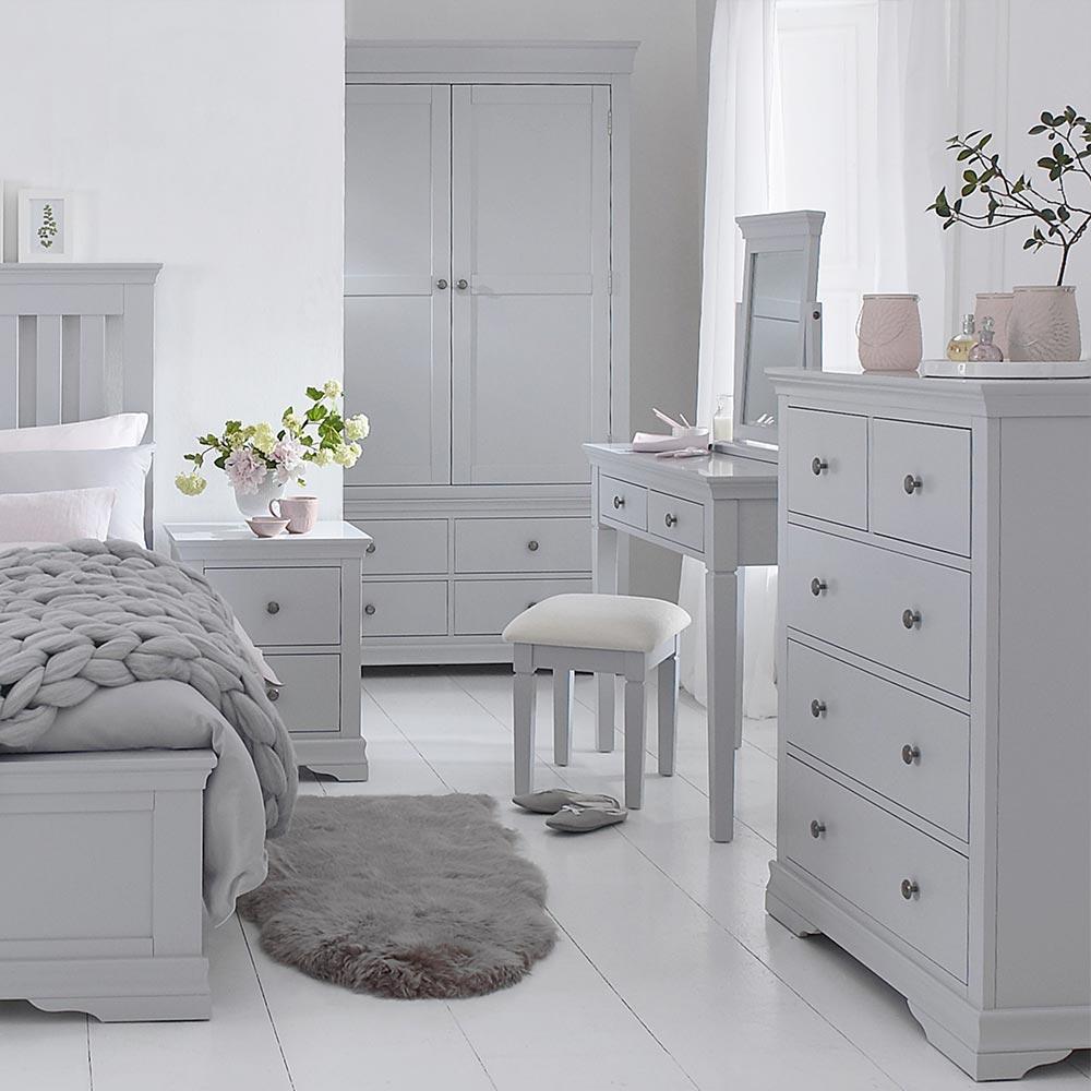 Chantilly Grey Bedroom Furniture