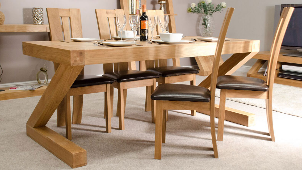 Z Solid Oak Dining Room Furniture