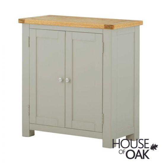 Portman Painted 2 Door Cabinet in Stone Grey