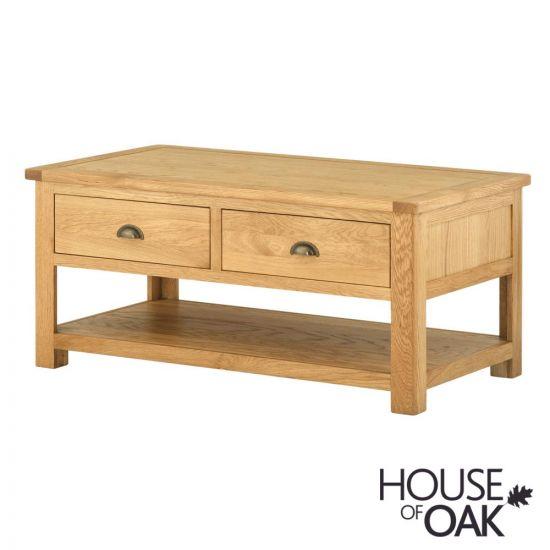 Portman 2 Drawer Coffee Table in Oak