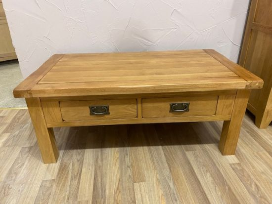 Denby Solid Oak 4 Drawer Coffee Table