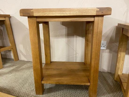 Denby Solid Oak Lamp Table