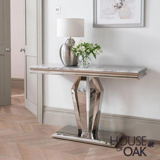 Arturo Grey Console Table