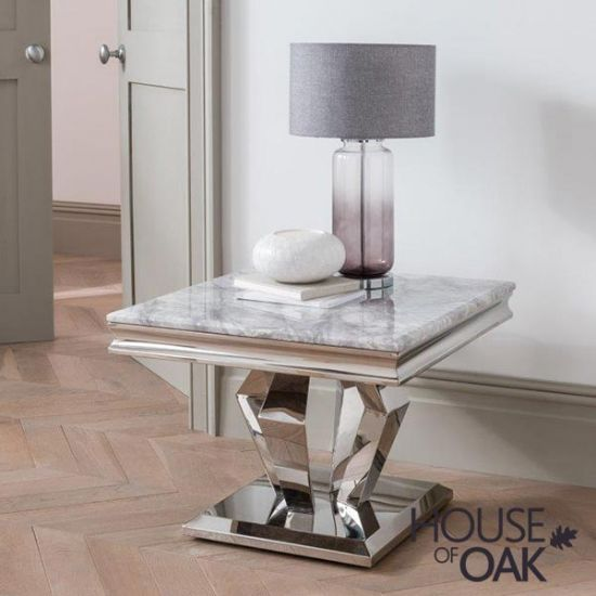 Arturo Grey Lamp Table
