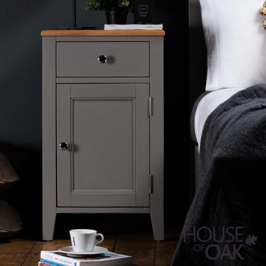 Sussex Grey  1 Door 1 Drawer Bedside Cabinet