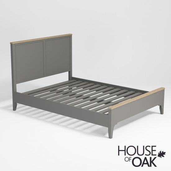 Sussex Grey 4FT 6'' Double Bed