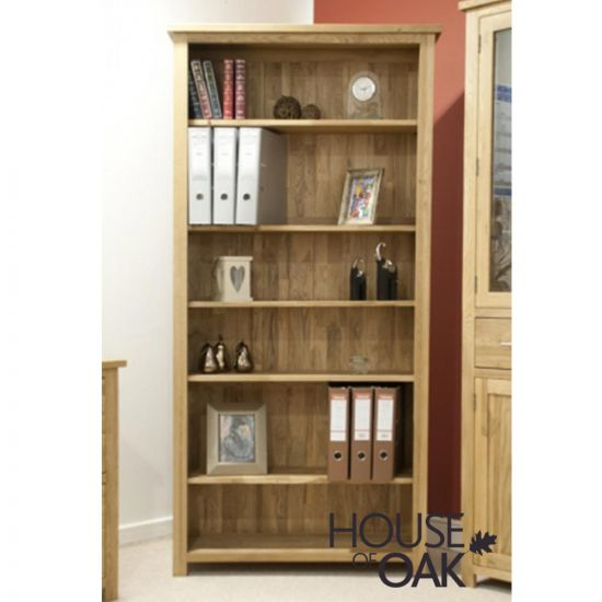 Opus Solid Oak Large Bookcase