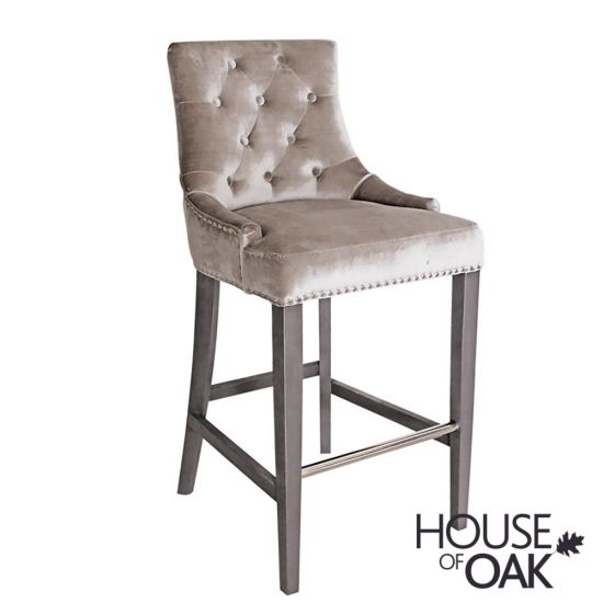 Belvedere Bar Stool - Pewter