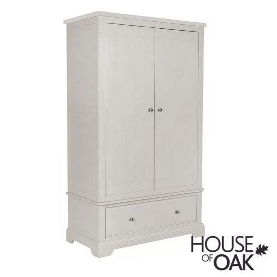 Symphony Grey Double Wardrobe with Drawer