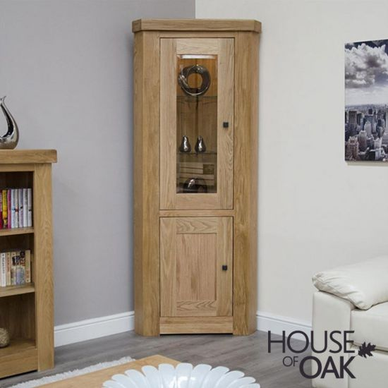 Manor Oak Corner Display Unit