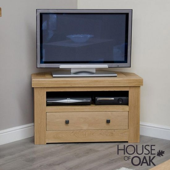 Manor Oak Corner TV Unit