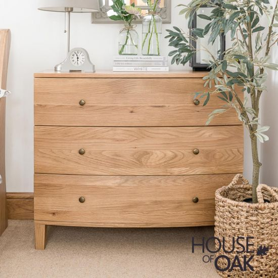 Bowness Oak 3 Drawer Chest