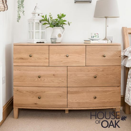 Bowness Oak 3 over 4 Drawer Wide Chest