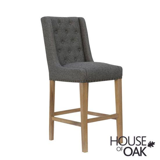Chelsea Fabric Bar Chair in Dark Grey