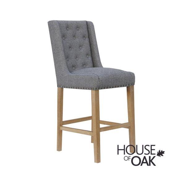 Chelsea Fabric Bar Chair in Light Grey
