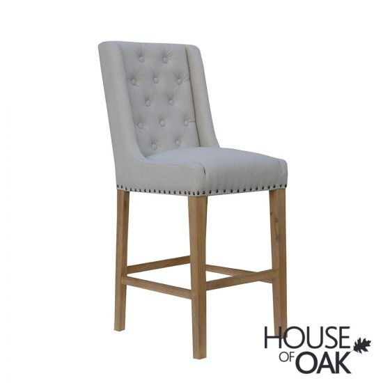Chelsea Fabric Bar Chair in Natural