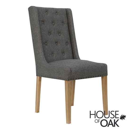 Chelsea Fabric Chair in Dark Grey