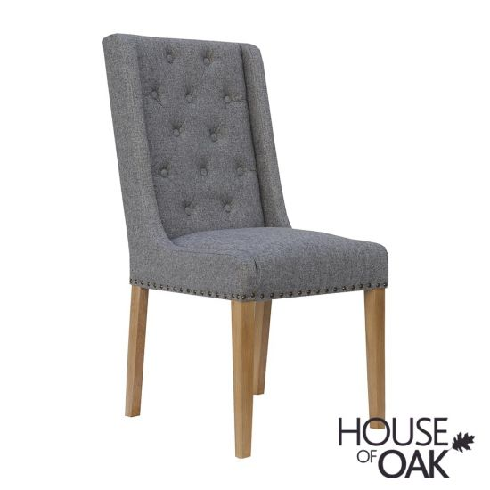 Chelsea Fabric Chair in Light Grey