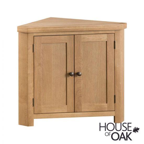 Harewood Oak Corner Cabinet