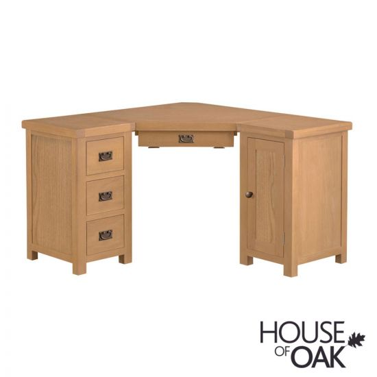 Harewood Oak Corner Computer Desk