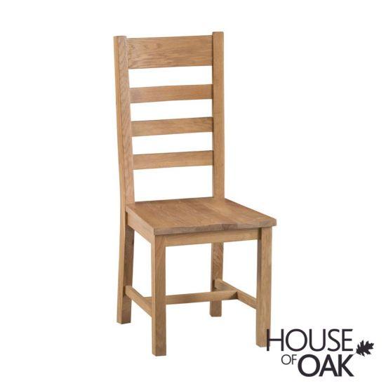 Harewood Oak Ladder Back Chair Wooden Seat