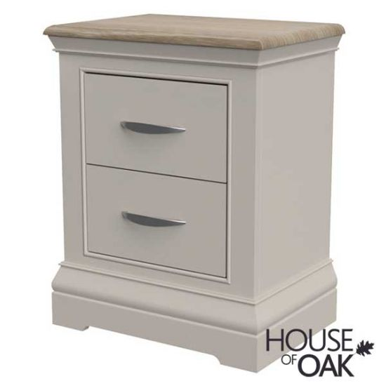 Kirkstone Winter Mist 2 Drawer Bedside Cabinet