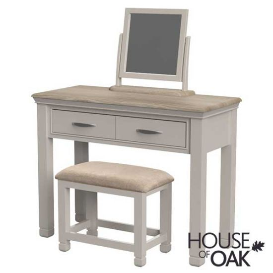 Kirkstone Winter Mist Dressing Table with Mirror and Stool