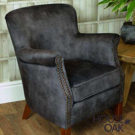 Cromarty Armchair - Charcoal Velvet