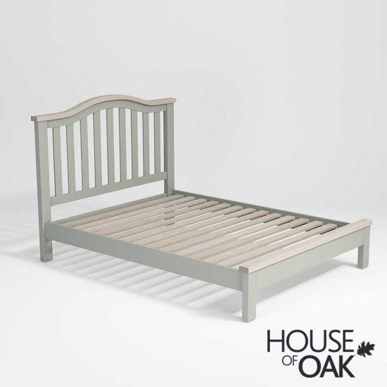 Ella Chalked Oak & Misty Grey - 4FT 6'' Double Bed