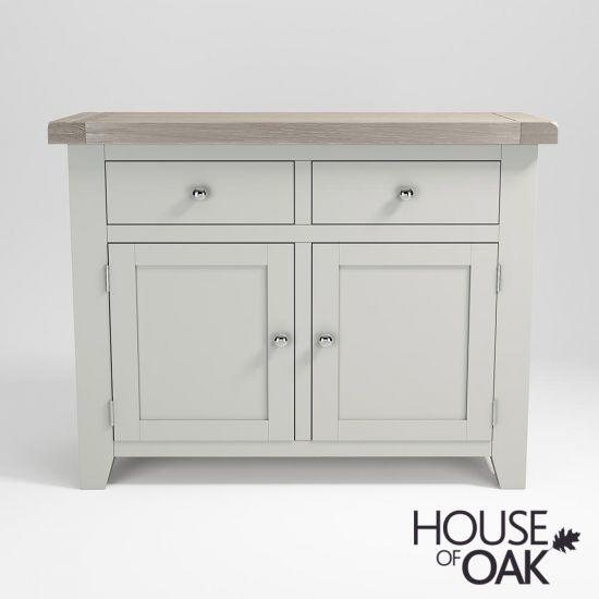 Ella Chalked Oak & Misty Grey - 2 Door 2 Drawer Sideboard