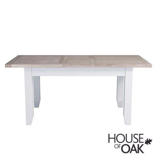 Ella Chalked Oak & Misty Grey - 125cm Extending Table
