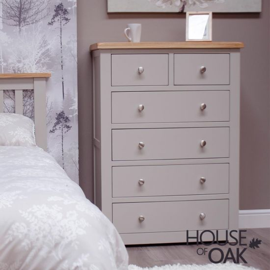 Diamond Grey 2 over 4 Chest of Drawers
